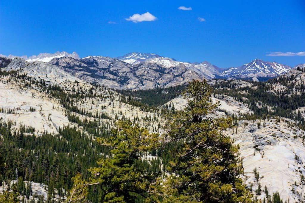 Northern Sierra crest from Olmstead Peak