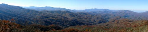 Wesser Bald - South & West Panorama