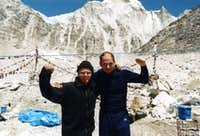 Goran Kropp and me on Everest Base Camp 1999