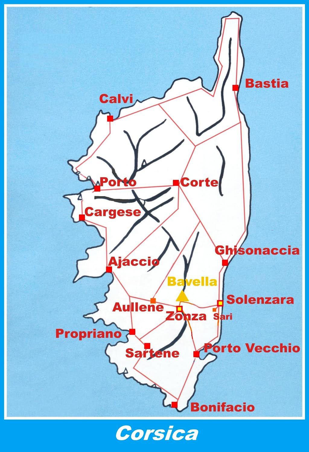 Corsica road map : Photos, Diagrams & Topos : SummitPost