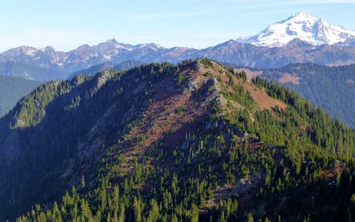 North Bowser Butte and Glacier Peak from South Bowser Butte