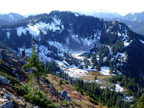 South Bowser Butte and Bowser Lake from North Bowser Butte