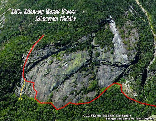 Marcy East Face Margin Slide Route