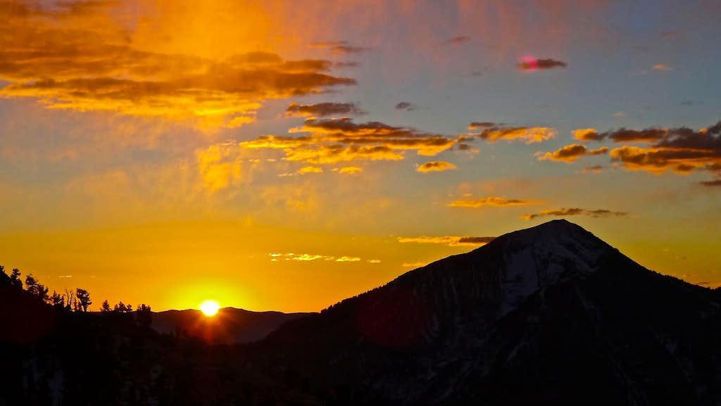 Box Elder Peak Sunrise.