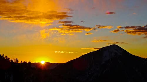 Box Elder Peak Sunrise.