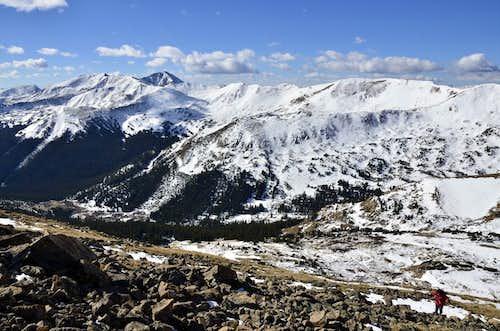 Jones Pass from slopes of Vasques Peak.
