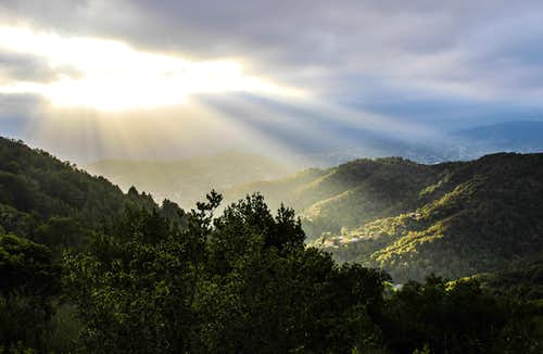 Light shafts over San Rafael