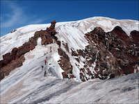 Gendarme on Krestovsky snow ridge