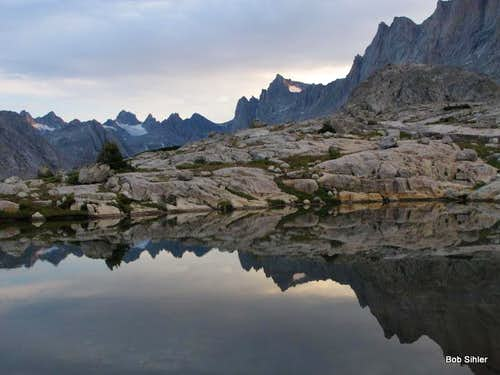 Titcomb Basin Tarn and Reflections at Dawn