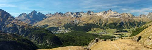 Albula Alps above St. Moritz and Samedan