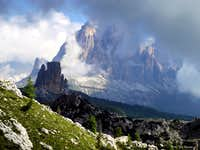 Unsettled morning over Cinque Torri and Tofana