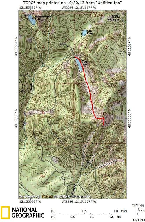 Beaver Peak route map