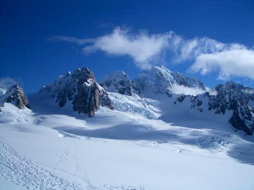 Mounts Haast (left),...