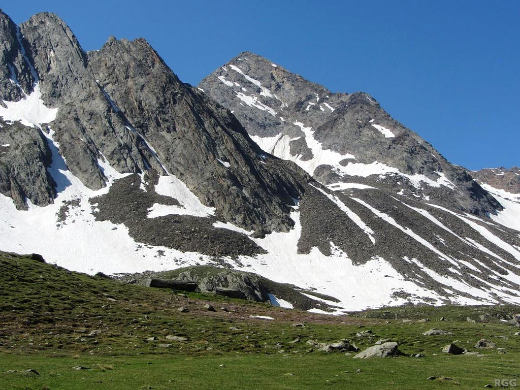 Schwarze Wand (3065m) from the Lafaistal