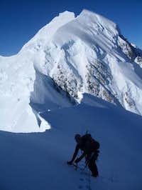 On the summit ridge of Mount...
