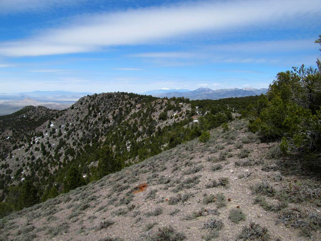 near Keg Mountain summit