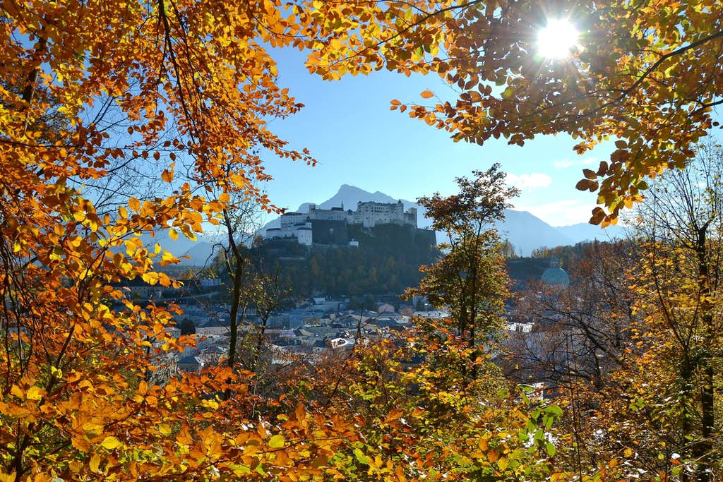 A framed view upon Hohensalzburg fortress