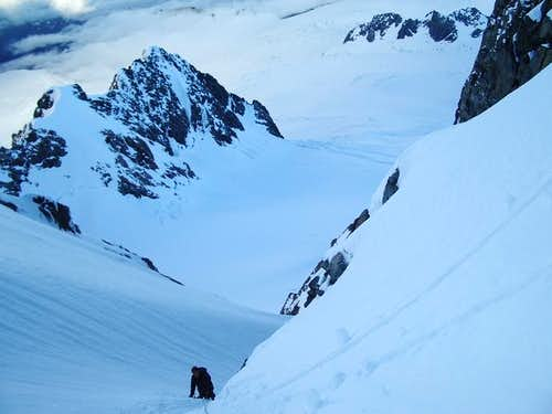 High on the NW Couloir of...