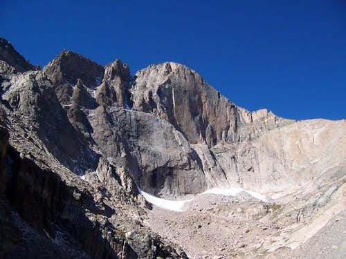 Longs' East Face towers above...