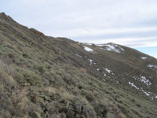 reaching the Tintic summit ridge