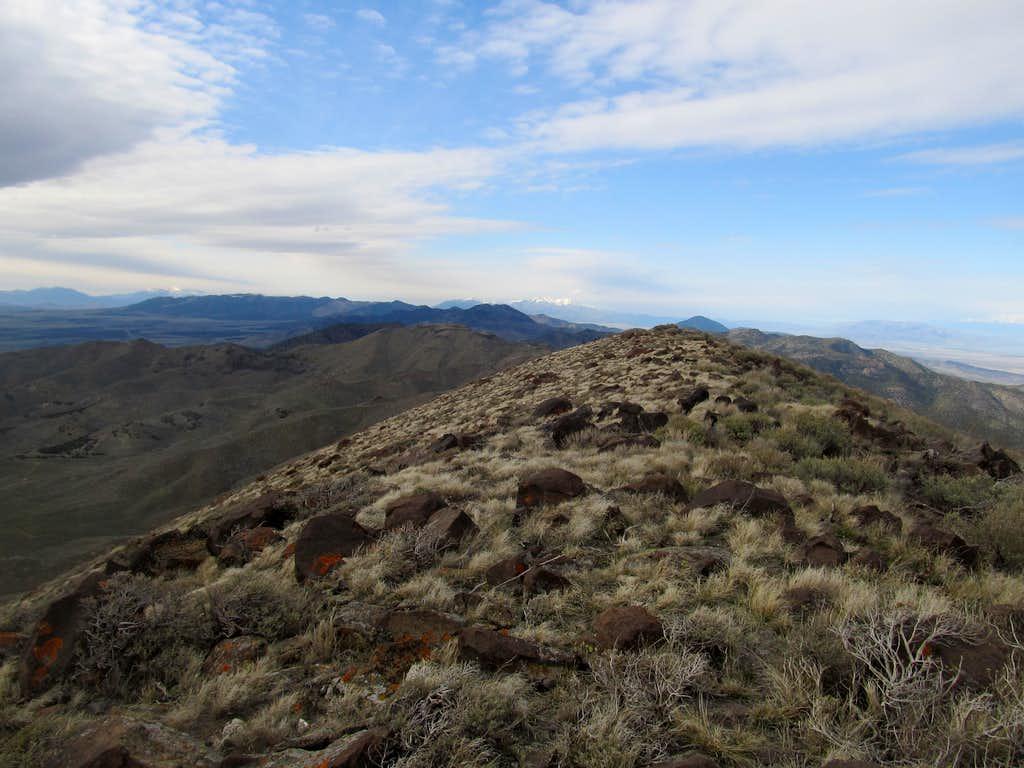 north from Tintic summit ridge