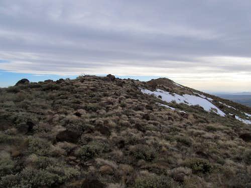 reaching Tintic summit