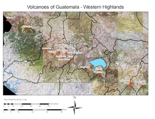 Volcanoes of Western Guatemala
