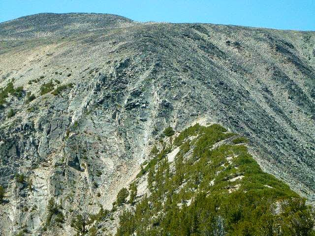 Approaching the crux on the...