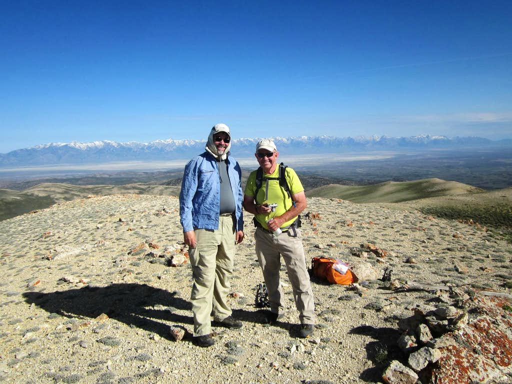 Ken and I atop High Bald in Nevada