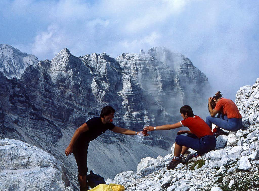 After climbing Spodnja...