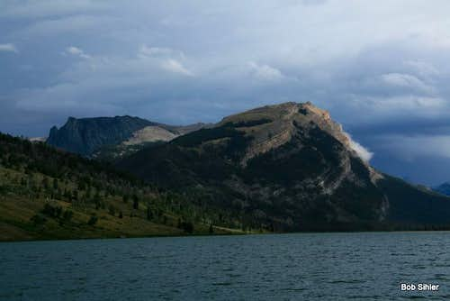White Rock Mountain from Green River Lakes