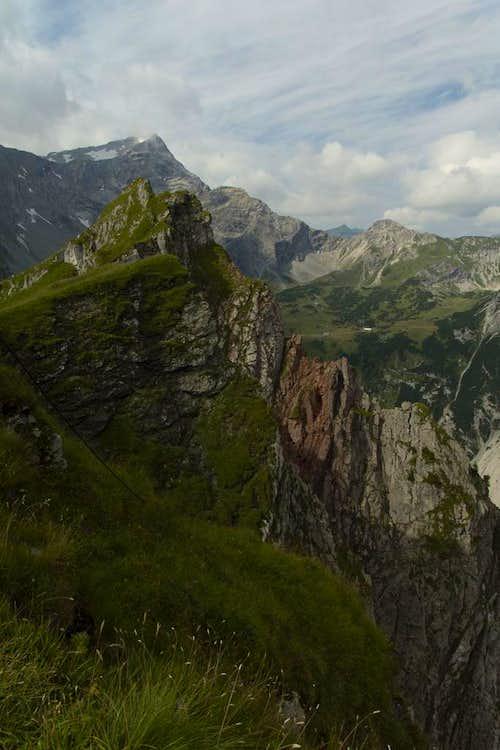 The Mottakopf summit ridge