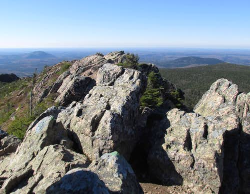 Mount Carleton summit rock