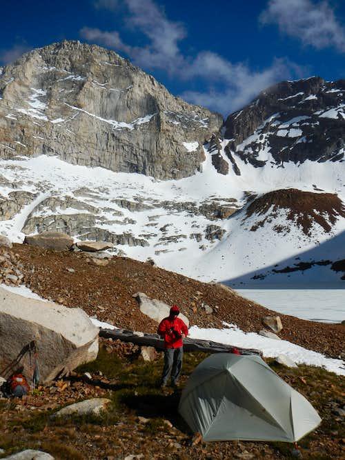 Camp at Upper Franklin Lake