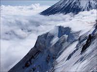 Hanging glacier on Krestovsky