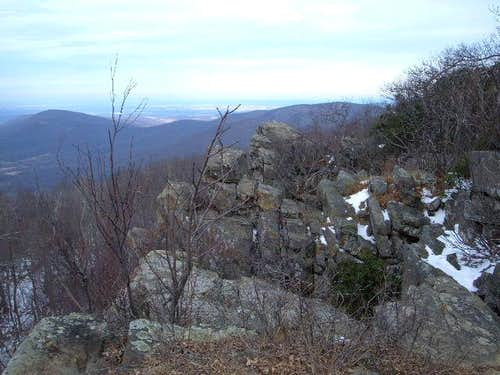 View of the Marshall cliffs,...