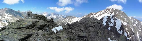 Panorama from the false summit on the Gfallwand WNW ridge