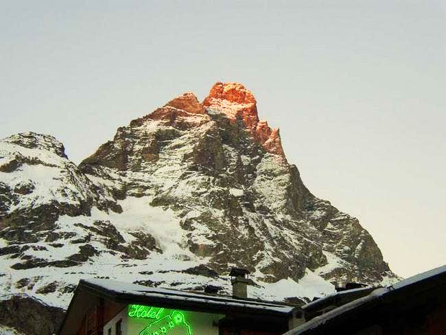 Matterhorn from Cervinia....