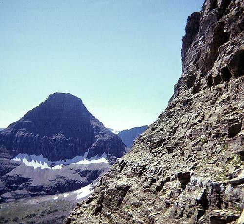 Traverse to East Face Couloir from the north