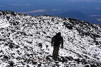 near the top of Humphreys Peak