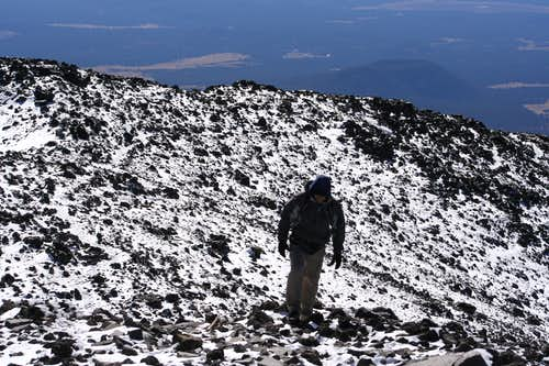 near the top of Humphreys Peak