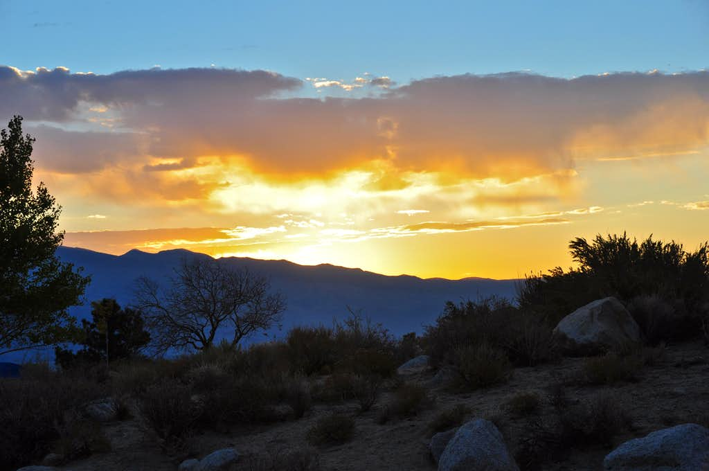 Moments before sunrise on Inyo Mountains