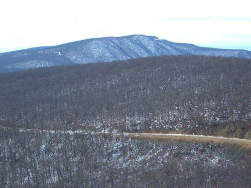 Hogback Mountain sits behind...