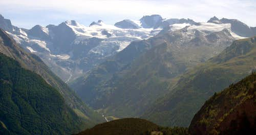 Gran Paradiso GROUP: Head of Valnontey <br>seen from Vallone di Grauson