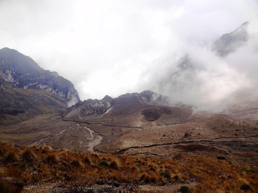 In the crater of Guagua Pichincha