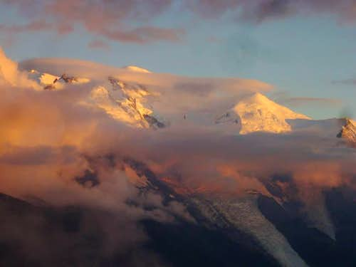 Sunset on Mont Blanc after 3 stormy days