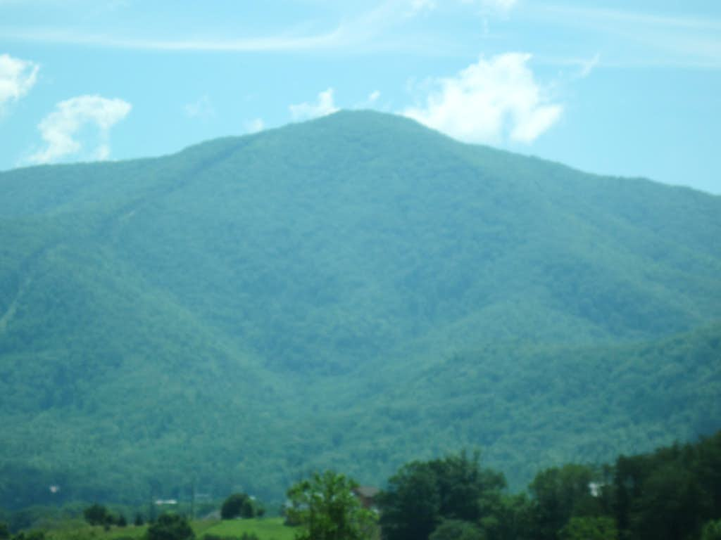 LeConte from the road to Newfound Gap