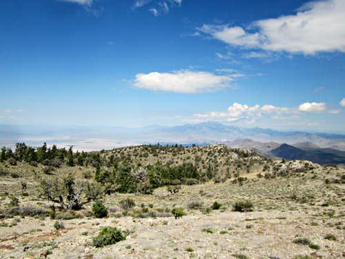 Blue Eagle Mountain (NV)A crater like deprea