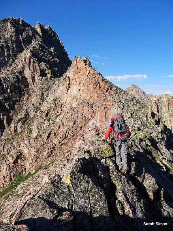 Along a ridgeline