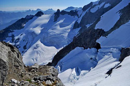 Looking Down onto the Forbidden Glacier